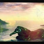 海辺の粘土怪獣