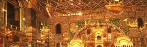 ▲インド・ラジャスタン州のジャイナ教寺院内に浮かぶヴィマーナの立体模型
