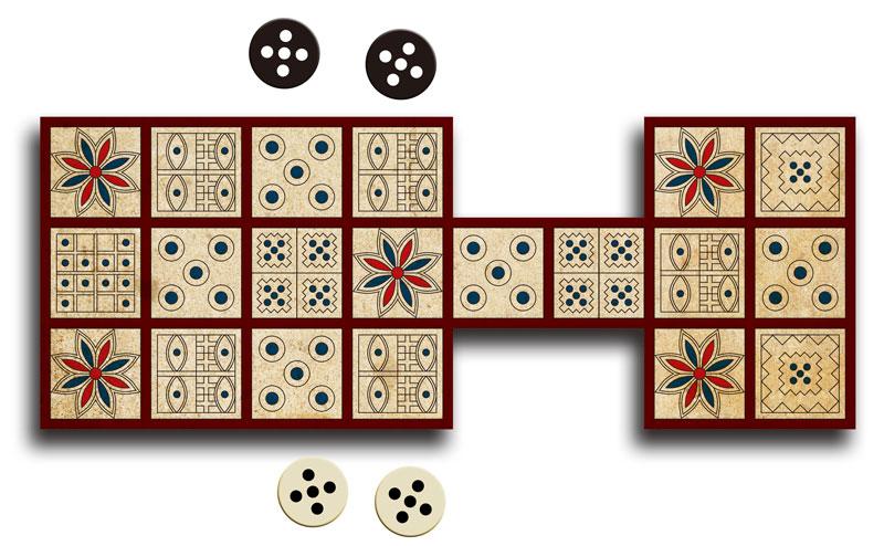 図2:ウル王朝のゲーム盤を描いてみた