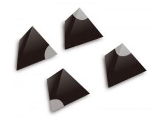 図3:ウル王朝のゲームの四面体サイコロ