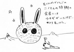金星のウサギVSサソリ