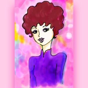 Yukkyが描いた絵に着色