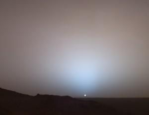 火星の日没の様子