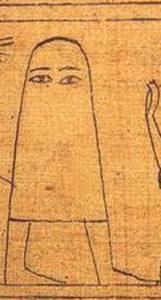 グリーンフィールド・パピルス紙片76に描かれているメジェド様